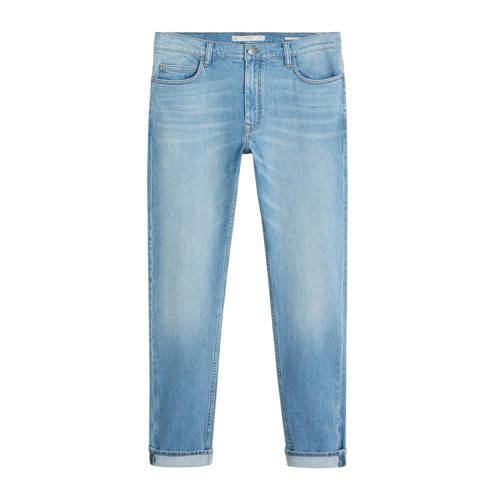 Mango Man slim fit jeans Jan licht vintage blauw