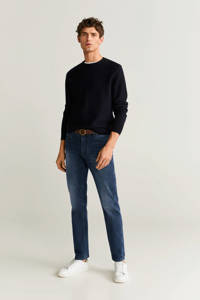 Mango Man slim fit jeans Jan diep donkerblauw, Diep donkerblauw