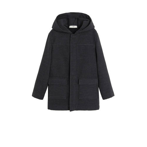 Mango Kids winterjas antraciet