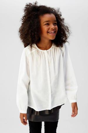 blouse met strass steentjes wit