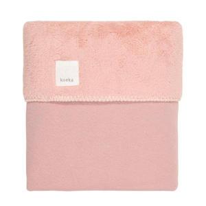 Runa teddy baby ledikantdeken Old Pink 100x150 cm
