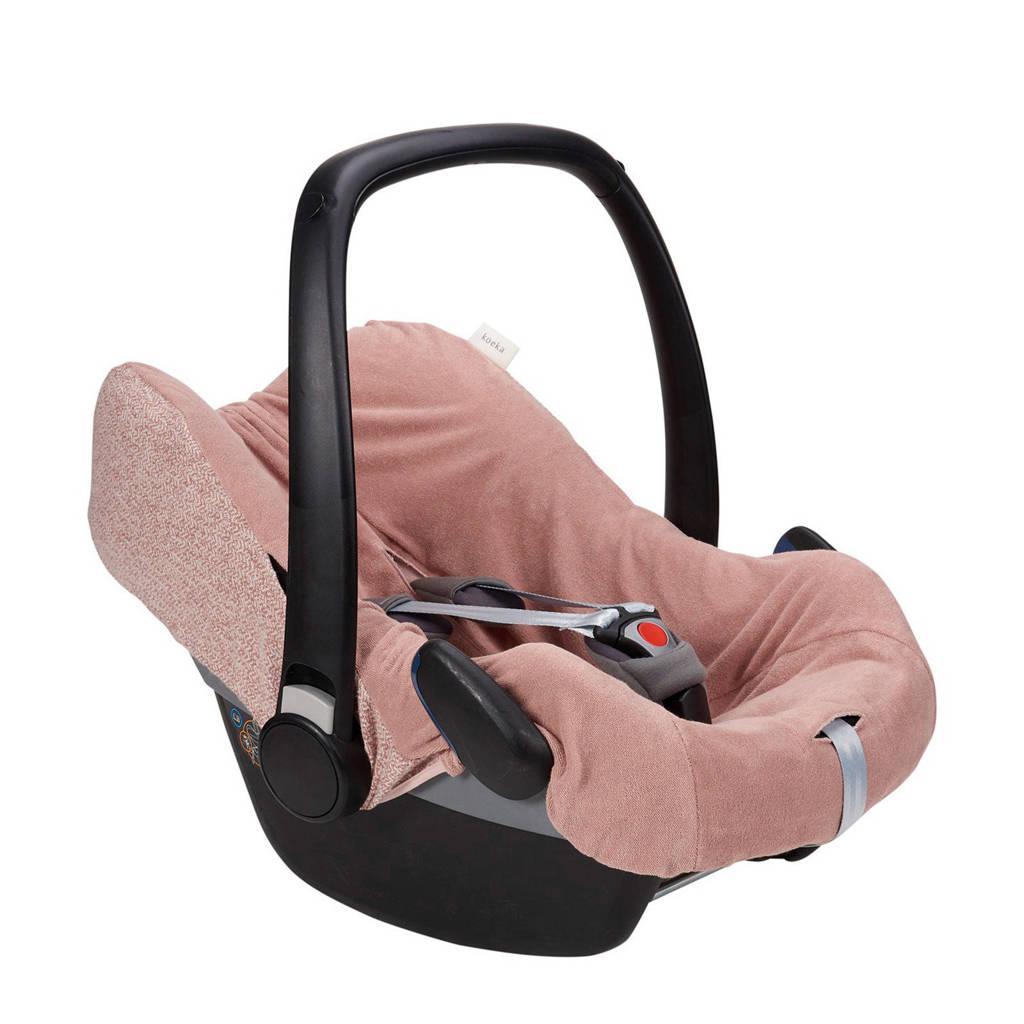 Koeka autostoelhoes Vigo voor maxi-cosi 3/5 punts Old Pink