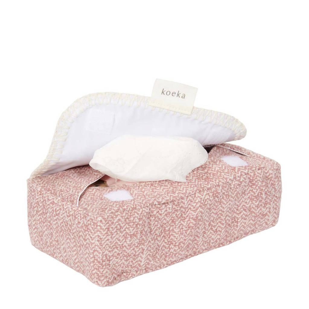 Koeka Vigo babydoekjesbox Old Pink