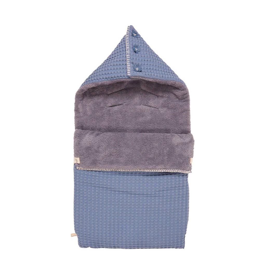 Koeka Oslo voetenzak (3-puntsgordel) Stormy Blue, Stormy Blue/Steel Grey
