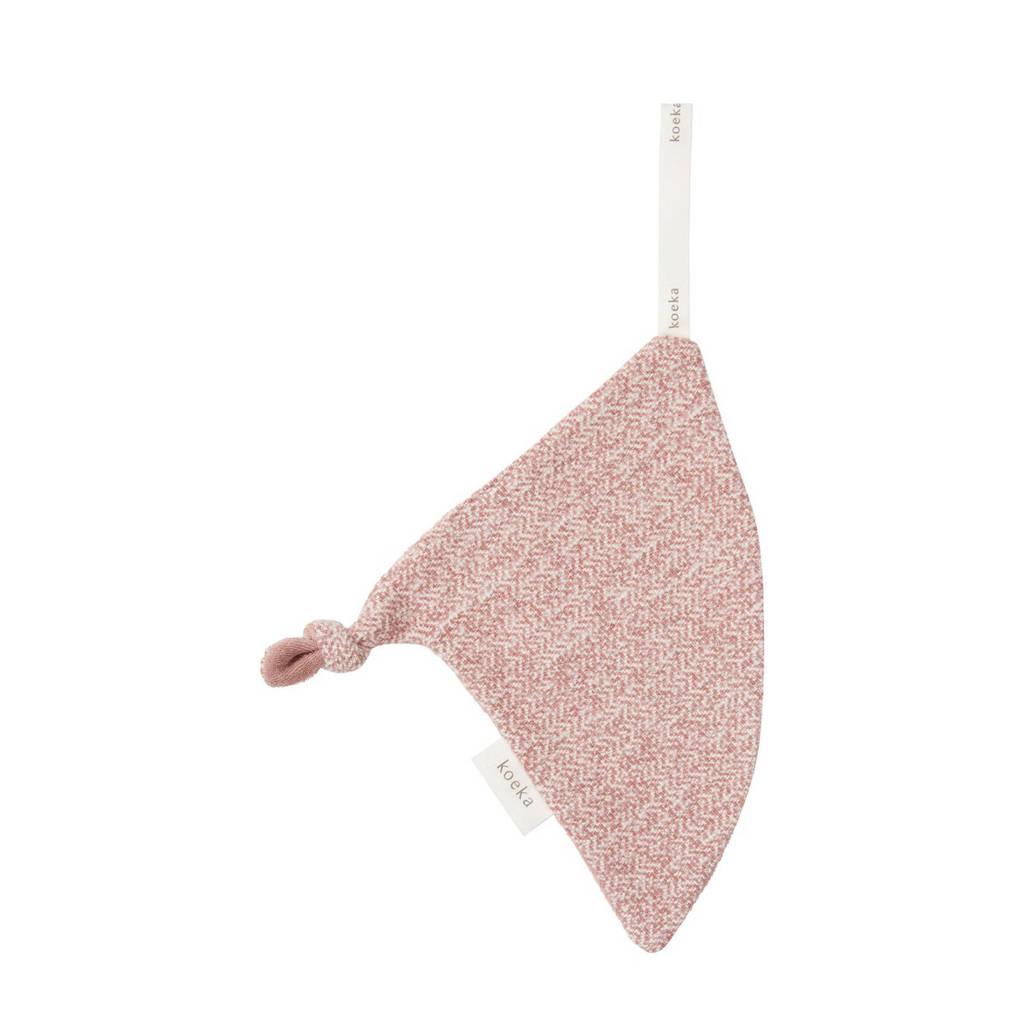 Koeka speendoekje triangle Oslo Shadow Pink/Light Shadow Pink