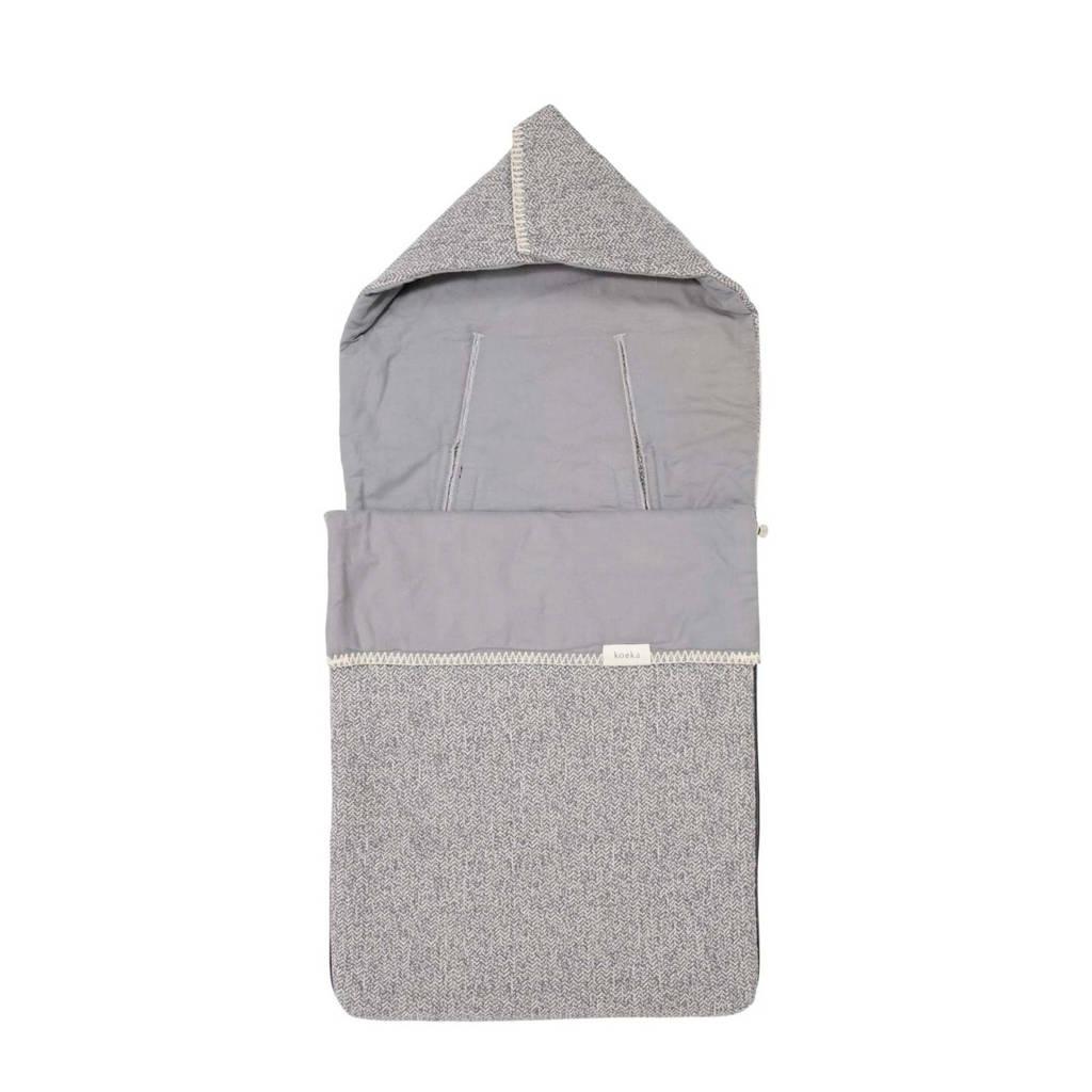 Koeka voetenzak flanel Vigo 3/5 punts grijs, sparkle grey/steel grey