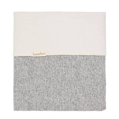 Koeka Vigo flanel baby wiegdeken Sparkle Grey 75x100 cm