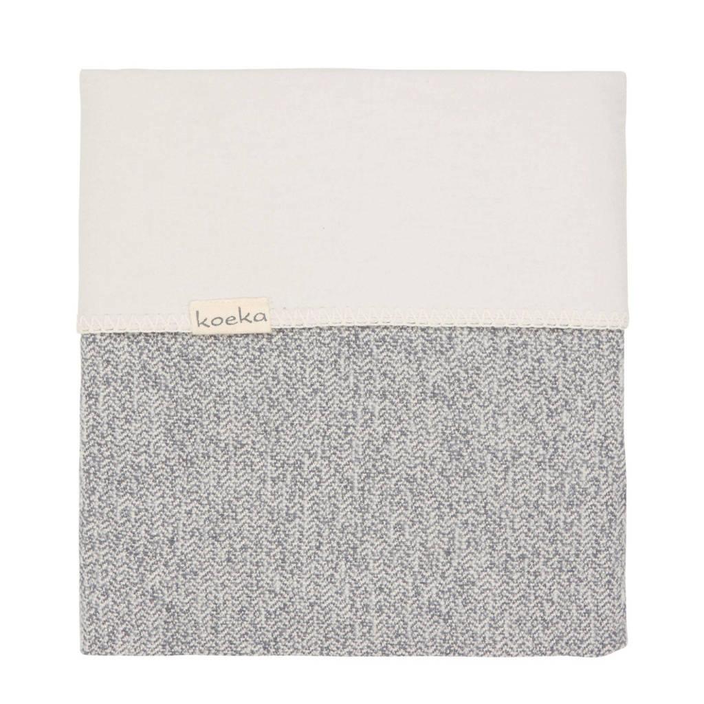 Koeka Vigo flanel baby wiegdeken Sparkle Grey 75x100 cm, Sparkle grey