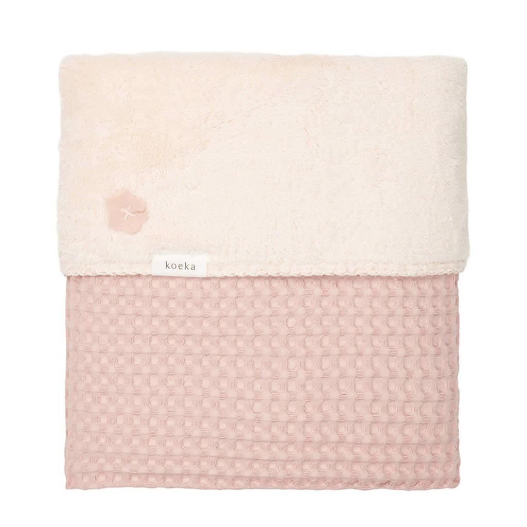 Koeka Oslo baby ledikantdeken Shadow Pink 100x150 cm, Roze