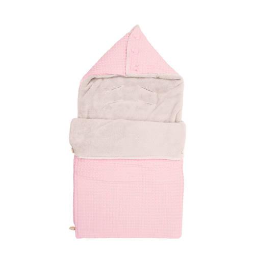 Koeka voetenzak wafel-teddy Oslo old baby pink-pebble