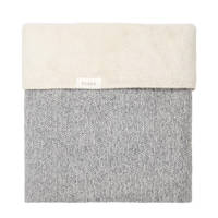 Koeka Vigo teddy baby ledikantdeken 100x150 cm Sparkle Grey/Pebble, sparkle grey/pebble