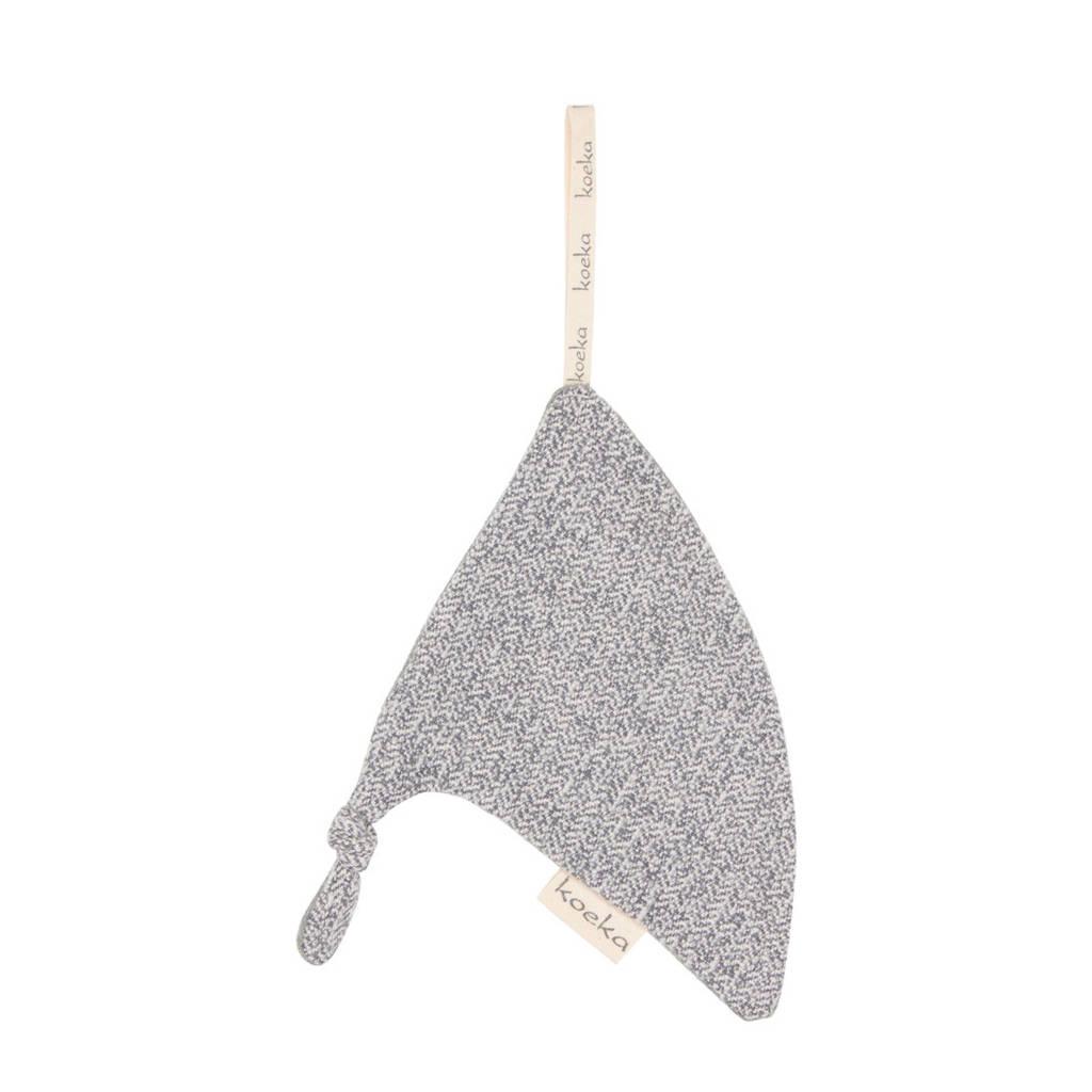 Koeka Vigo speendoekje triangel Sparkle Grey, Sparkle grey