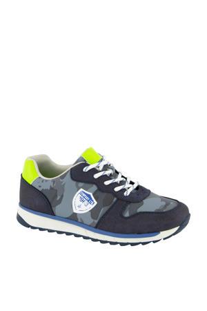 sneakers blauw/neon geel