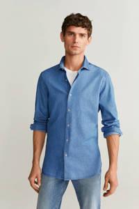 Mango Man slim fit overhemd blauw, Blauw