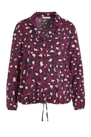 blouse met dierenprint