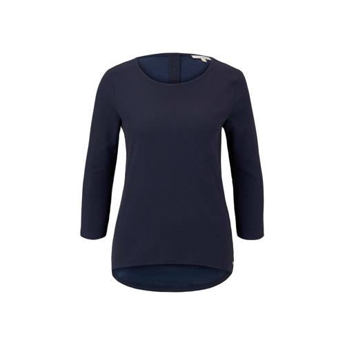Tom Tailor Denim T-shirt donkerblauw
