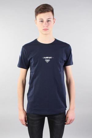 T-shirt met printopdruk donkerblauw/wit