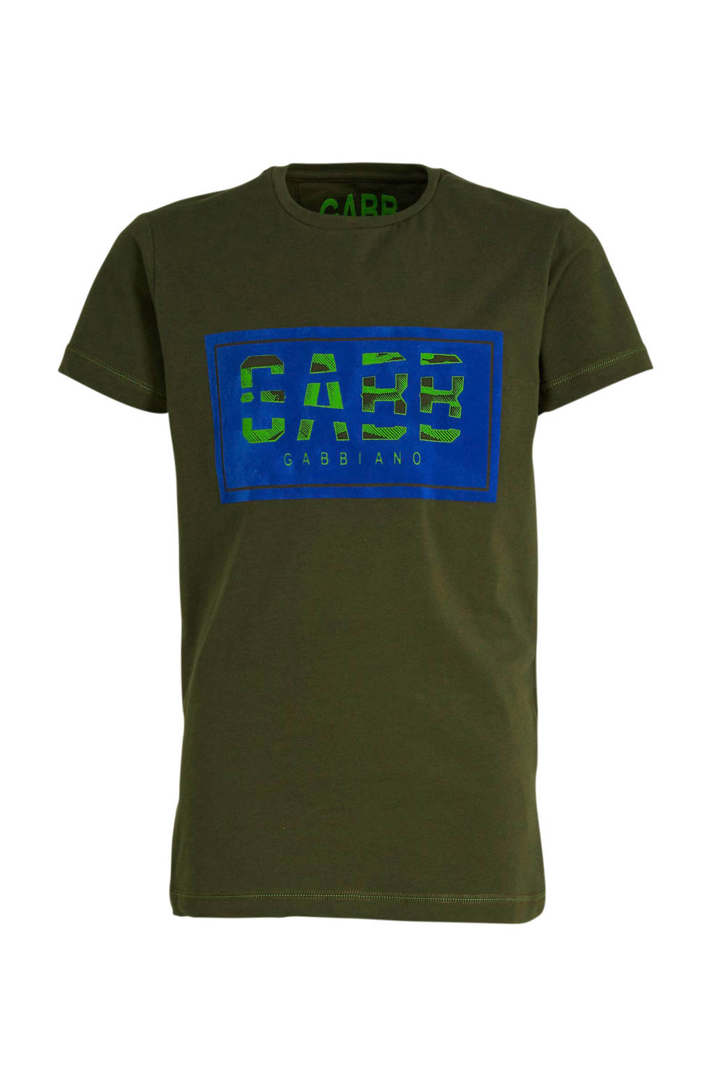 GABBIANO T-shirt met logo donkergroen/groen, Donkergroen/groen