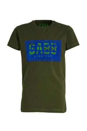 T-shirt met logo donkergroen/groen
