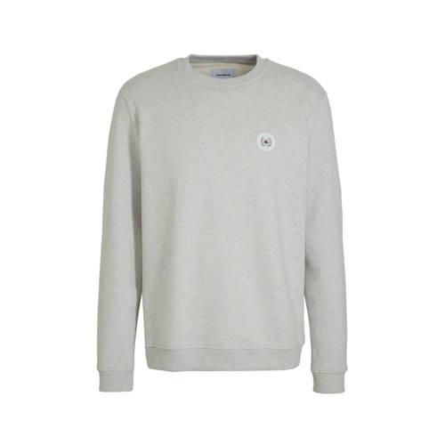 Woodbird sweater met logo wit