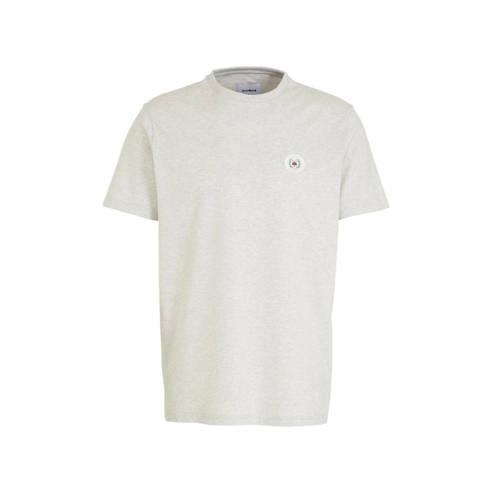 Woodbird T-shirt met logo beige