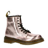 Dr. Martens 1460 J  veterboots roze/metallic, Roze/Pink Salt Crinkle Metallic