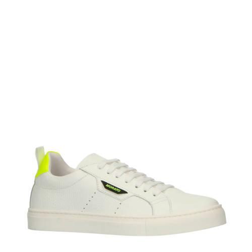 Antony Morato leren sneakers wit/neon geel