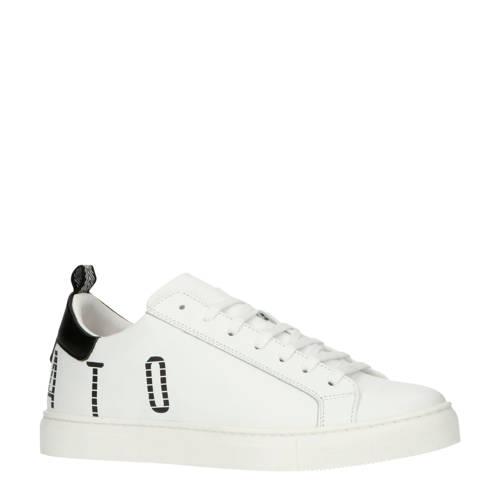 Antony Morato leren sneakers wit/zwart