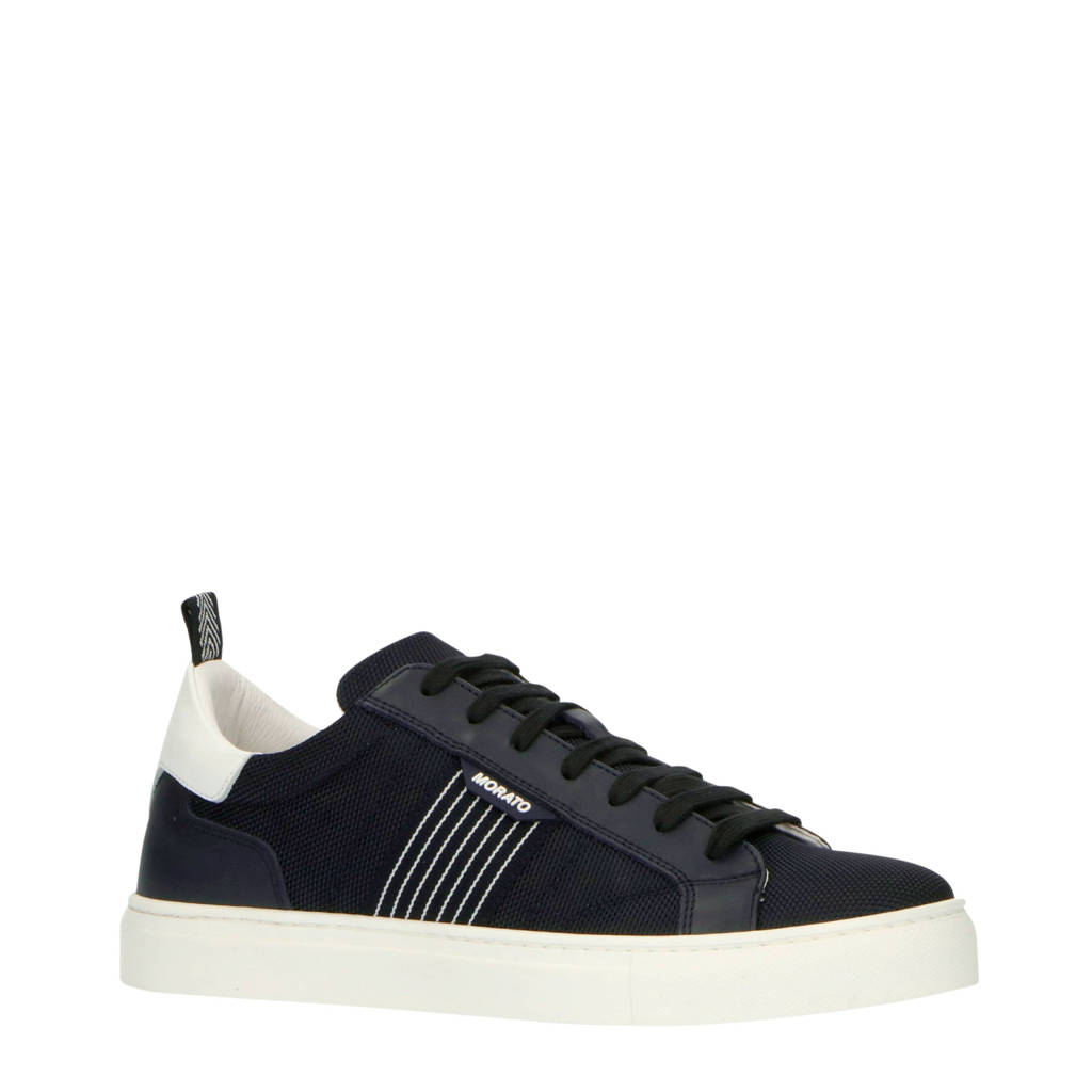 Antony Morato   leren sneakers blauw, Blauw/wit