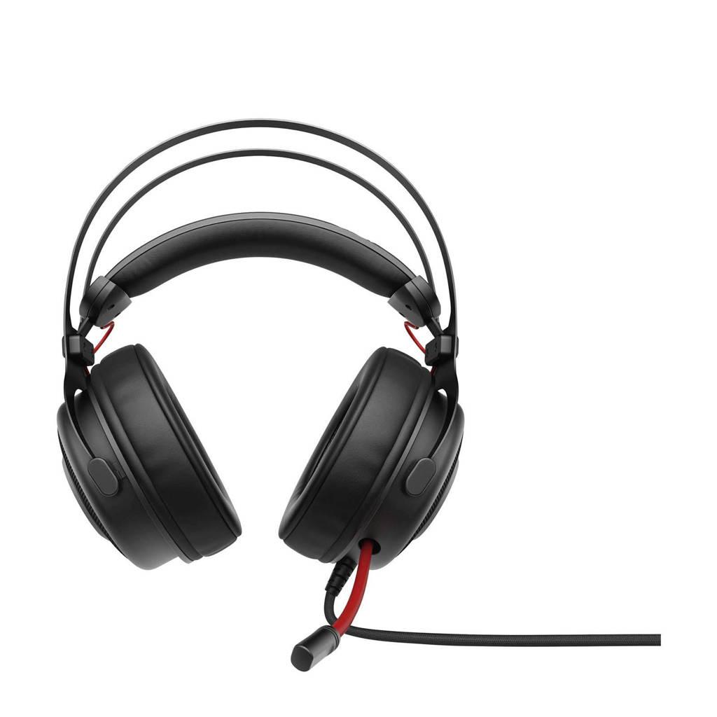 HP  Omen 800 gaming headset, Zwart, Rood