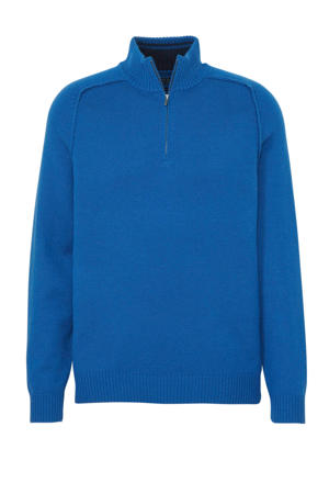 trui met wol blauw