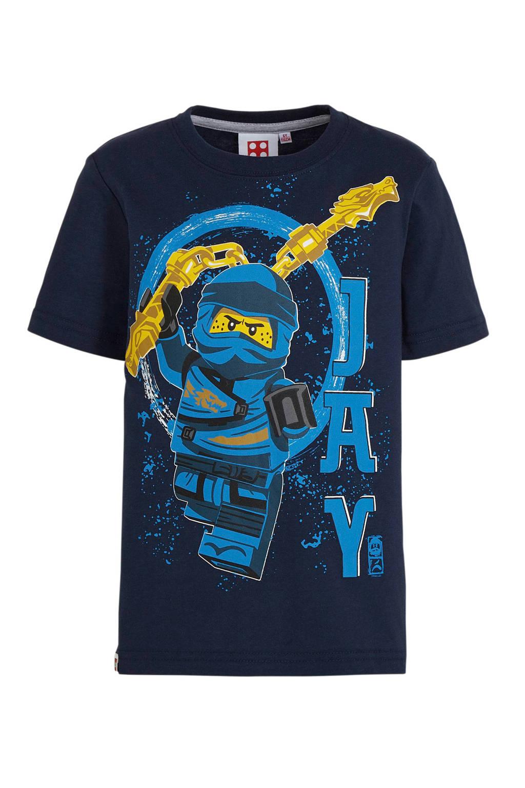 LEGO Ninjago T-shirt donkerblauw/geel, Donkerblauw/geel
