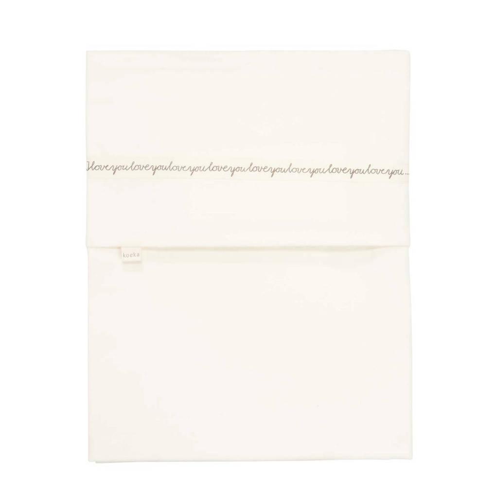 Koeka baby wieglaken wit/Sparkle Grey 80x100 cm, Wit/Sparkle Grey