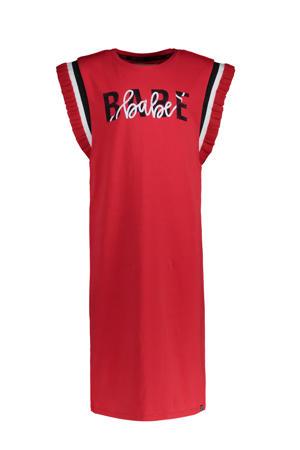 T-shirtjurk Sherita met tekst rood