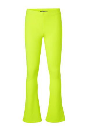 flared broek Zuma neon geel