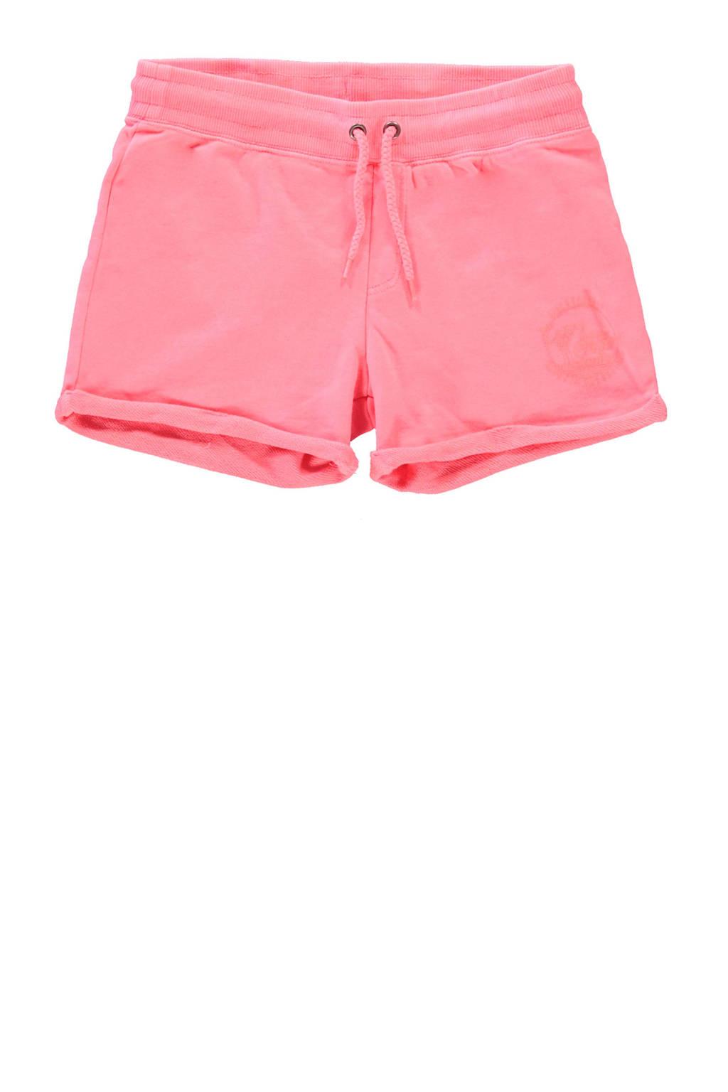 Cars regular fit sweatshort Milty neon roze, Neon roze