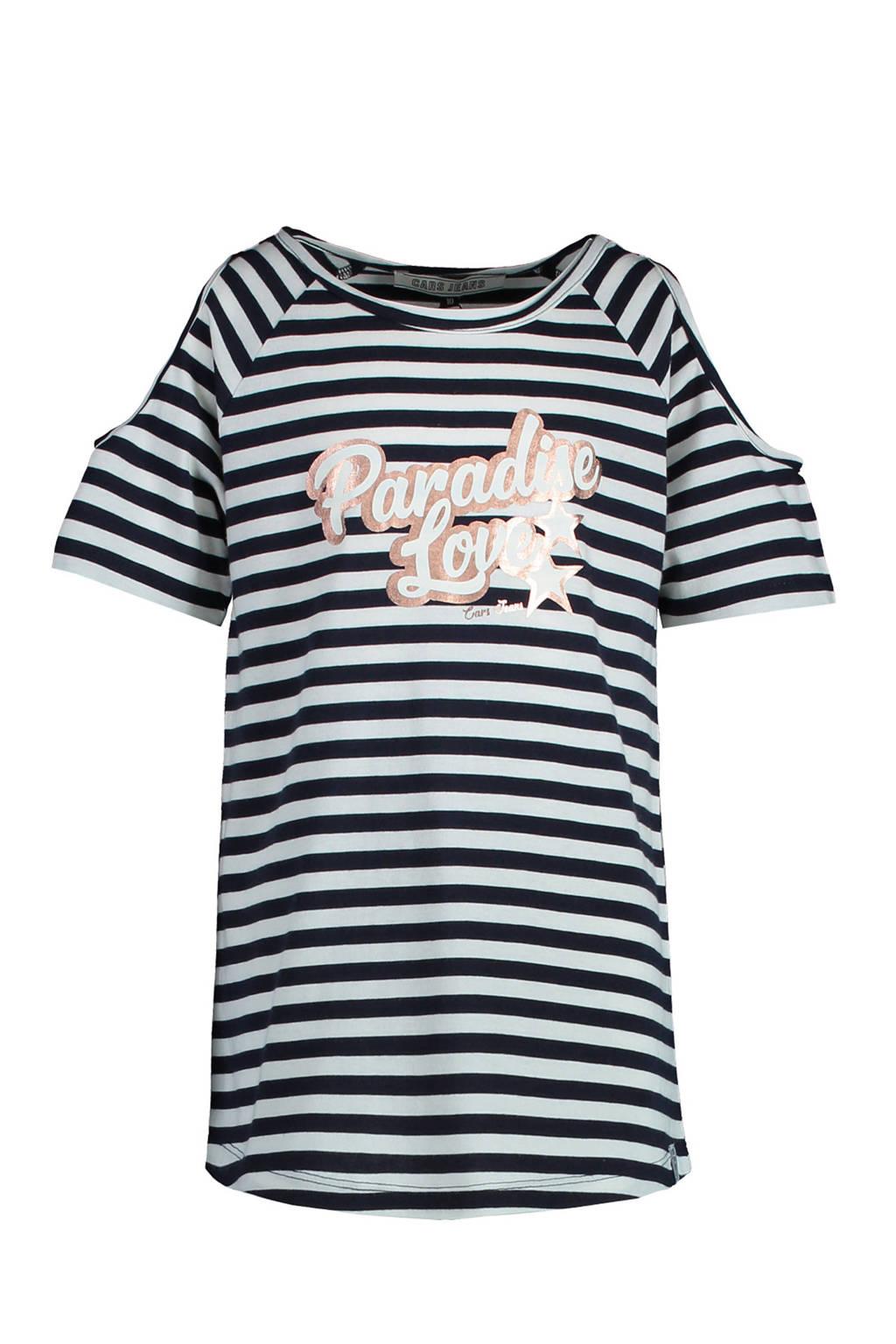 Cars gestreept T-shirt Ovida donkerblauw/wit, Donkerblauw/wit