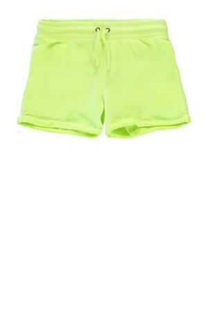 regular fit sweatshort Milty neon geel