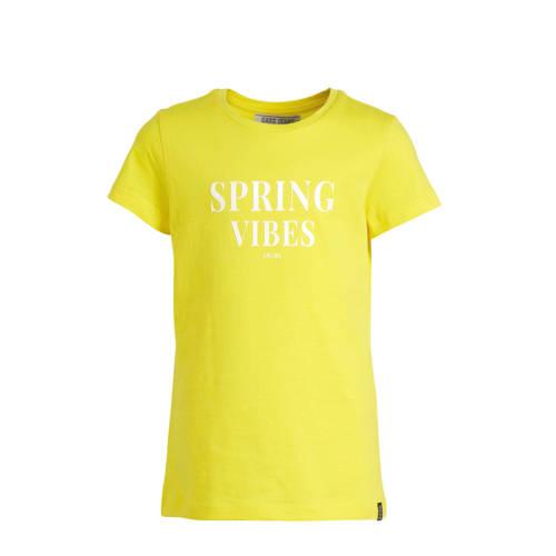 Cars T-shirt Birdy met tekst geel