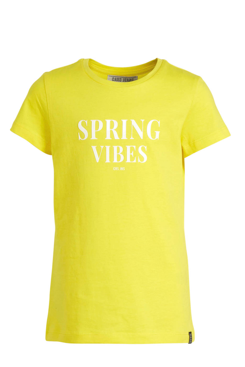 Cars T-shirt Birdy met tekst geel, Geel