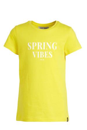 T-shirt Birdy met tekst geel