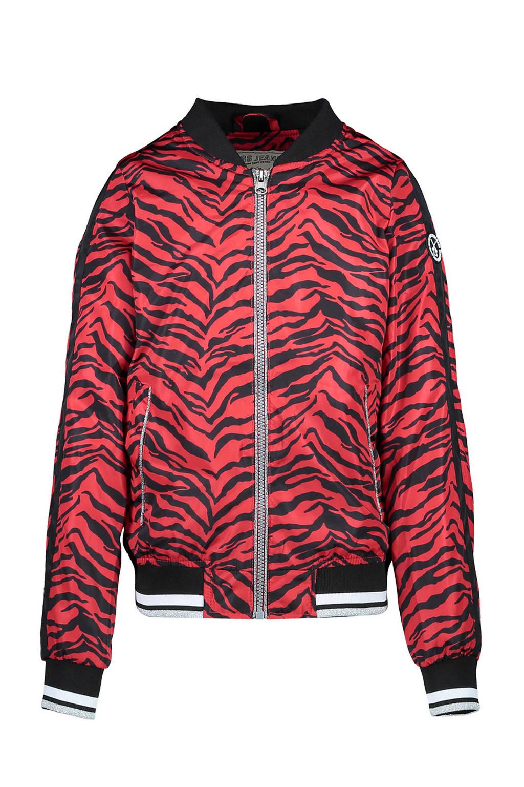 Cars zomerjas Marne met zebraprint en contrastbies rood/zwart, Rood/zwart