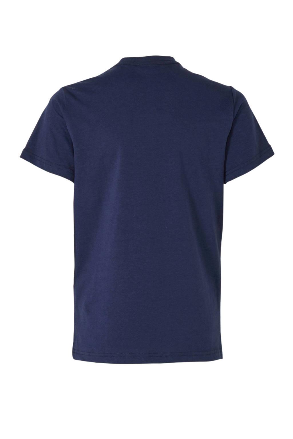 G-Star RAW T-shirt met logo donkerblauw, Donkerblauw
