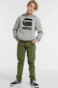 G-Star RAW hoodie met logo grijs melange/zwart/antraciet, Grijs melange/zwart/antraciet