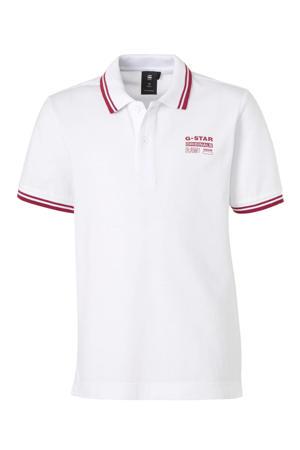 polo Dunda met logo wit/rood
