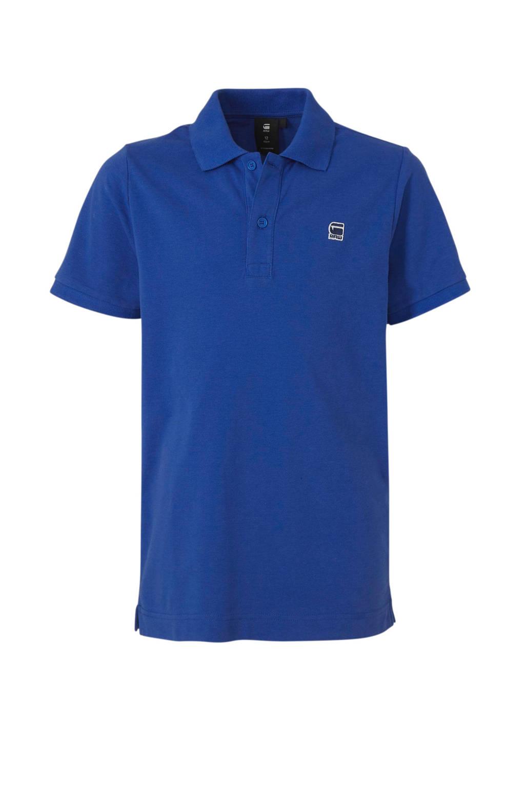 G-Star RAW polo Dunda met logo hardblauw, Hardblauw