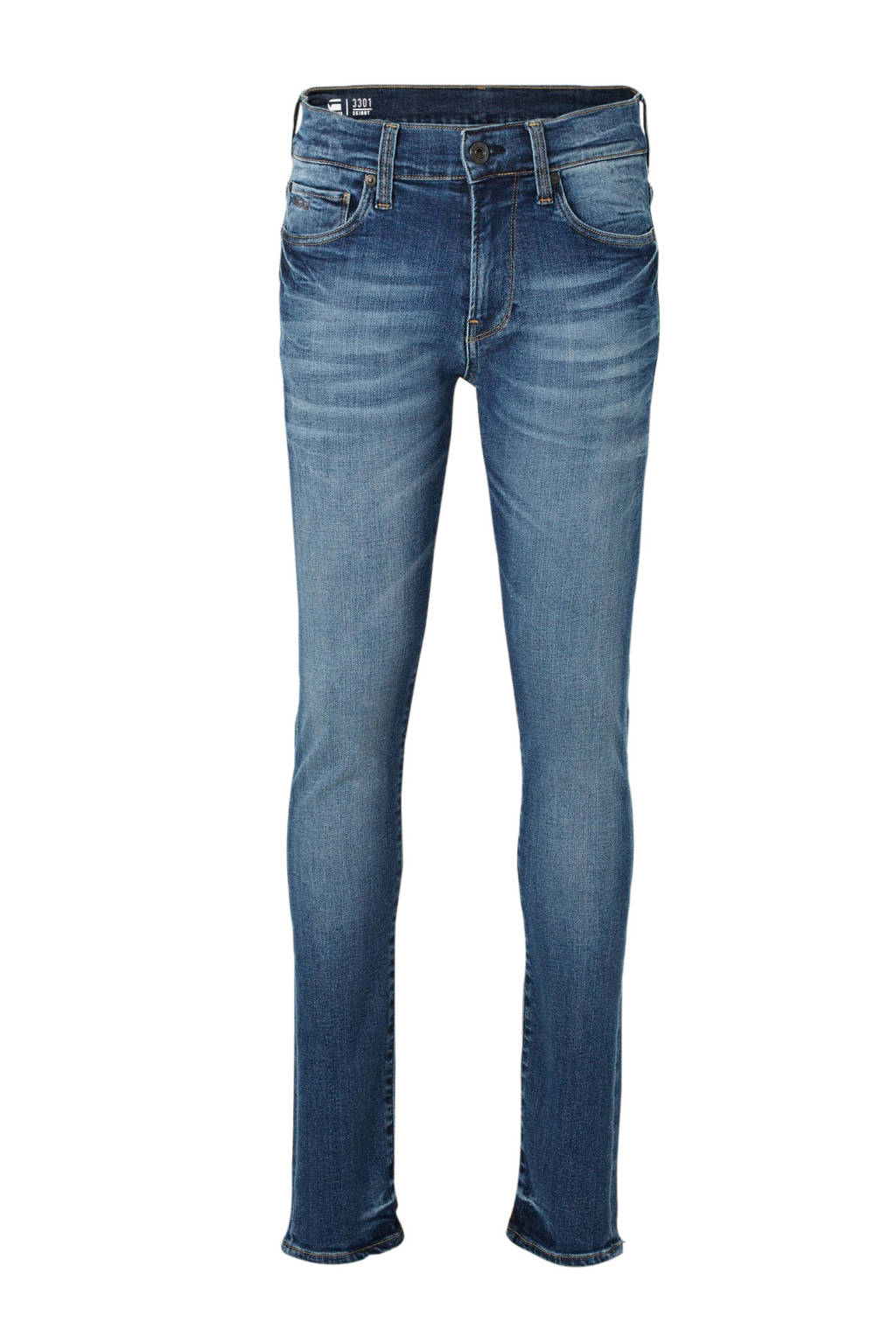 G-Star RAW 3301 slim fit jeans dark indigo lame, Dark indigo lame
