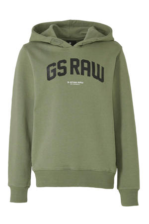 hoodie met logo kaki