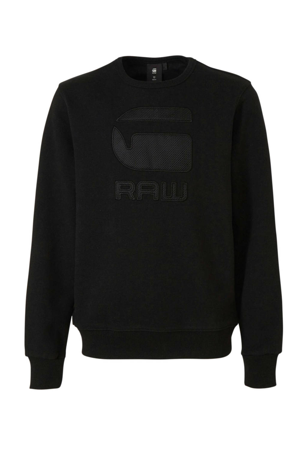 G-Star RAW sweater Swando met logo zwart, Zwart