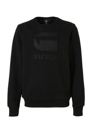sweater Swando met logo zwart